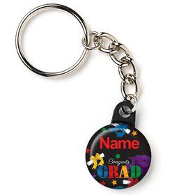 "Grad Spirit Personalized 1"" Mini Key Chain (Each)"