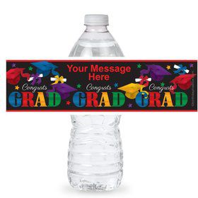 Grad Spirit Personalized Bottle Label (Sheet of 4)