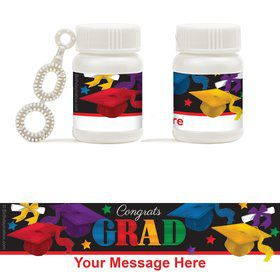 Grad Spirit Personalized Bubbles (18 Pack)