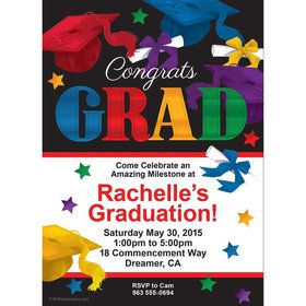 Grad Spirit Personalized Invitation (Each)
