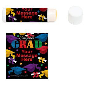 Grad Spirit Personalized Lip Balm (12 Pack)