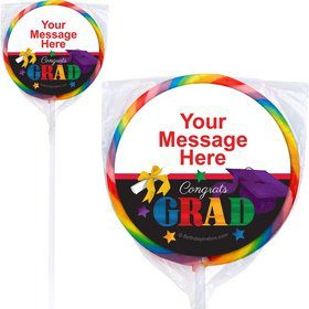 Grad Spirit Personalized Lollipops (12 Pack)