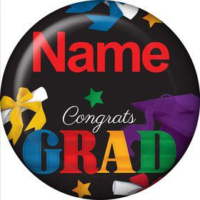 Grad Spirit Personalized Mini Button (Each)