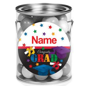 Grad Spirit Personalized Mini Paint Cans (12 Count)