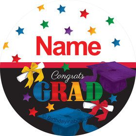 Grad Spirit Personalized Mini Stickers (Sheet of 20)