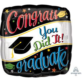 "Graduation 18"" Foil Balloon Going Places (1)"