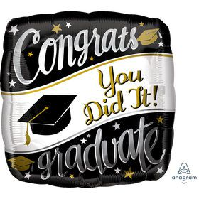 "Graduation 18"" Foil Balloon On Your Way (1)"