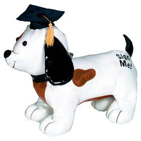 Graduation Autograph Dog w/ Pen (Each)