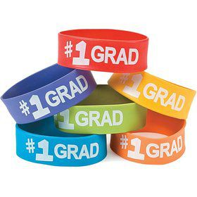 Graduation Big Band Rubber Bracelets (12 Pack)