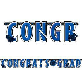 Graduation Blue 10' Letter Banner (Each)