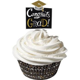 Graduation Cupcake Cups and Picks Combo Pack (Each)