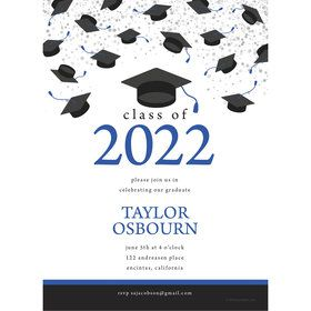 Graduation Day Blue Personalized Invitation (Each)