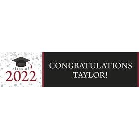 Graduation Day Burgundy Personalized Banner (Each)