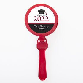Graduation Day Burgundy Personalized Clappers (Set Of 12)