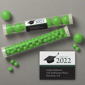 Graduation Day Green Personalized Candy Tubes (12 Count)