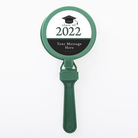 Graduation Day Green Personalized Clappers (Set Of 12)