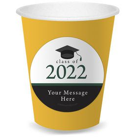 Graduation Day Green Personalized Cups (8)
