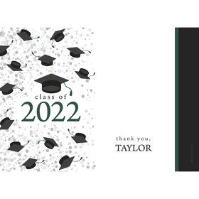 Graduation Day Green Personalized Thank You (Each)