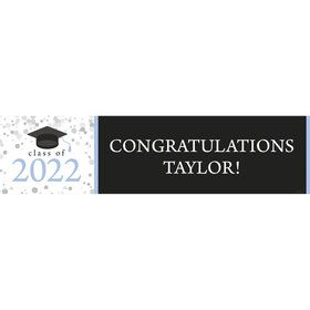 Graduation Day Light Blue Personalized Banner (Each)