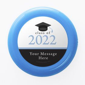 Graduation Day Light Blue Personalized Mini Discs (Set Of 12)