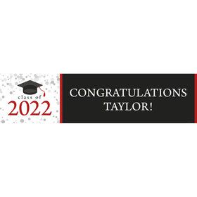 Graduation Day Red Personalized Banner (Each)