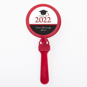 Graduation Day Red Personalized Clappers (Set Of 12)