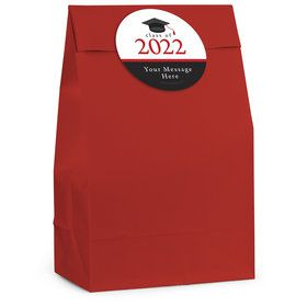 Graduation Day Red Personalized Favor Bag (12 Pack)