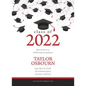 Graduation Day Red Personalized Invitation (Each)