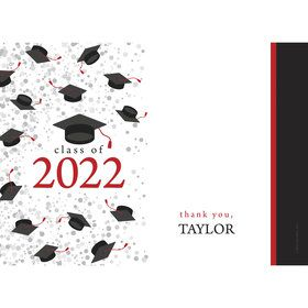 Graduation Day Red Personalized Thank You (Each)