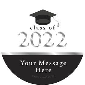 Graduation Day Silver Personalized Stickers (Sheet of 12)