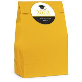 Graduation Day Yellow Personalized Favor Bag (12 Pack)