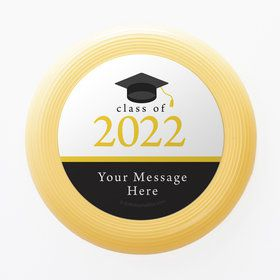 Graduation Day Yellow Personalized Mini Discs (Set Of 12)