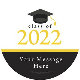 Graduation Day Yellow Personalized Stickers (Sheet of 12)