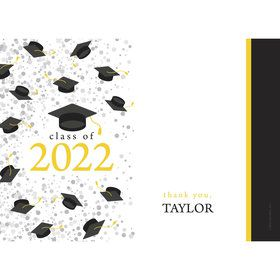 Graduation Day Yellow Personalized Thank You (Each)
