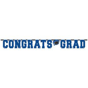 Graduation Giant 10 Foot Letter Banner Blue
