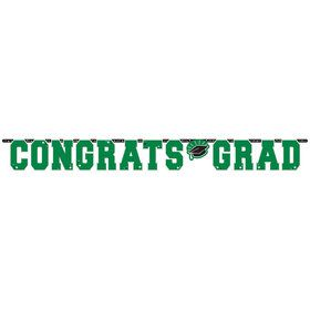 Graduation Giant 10 Foot Letter Banner Green