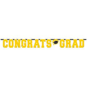 Graduation Giant 10 Foot Letter Banner Yellow