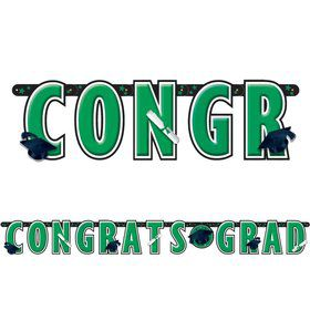 Graduation Green 10' Letter Banner (Each)