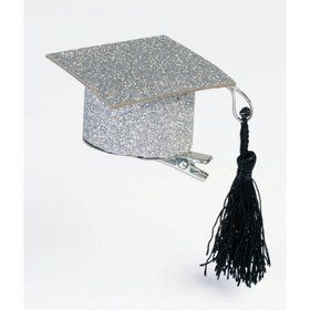 Graduation Hat Glitter Hair Clips (2pcs)