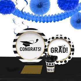 Graduation Party Pack for 40 With Royal Decoration Kit