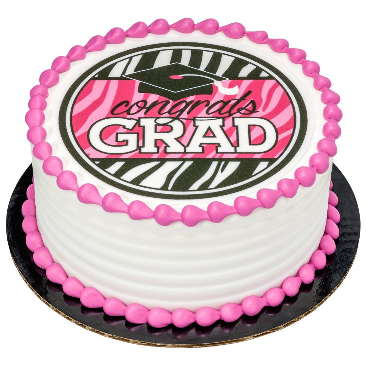 edible cake decorations graduation pink 7 5 supplies birthday in a box 3819
