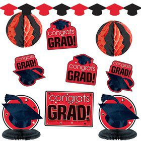 Graduation Red Decorating Kit (Each)