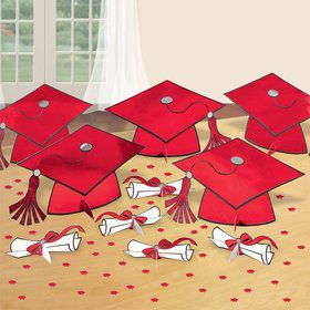 Graduation Table Red Decorating Kit (Each)