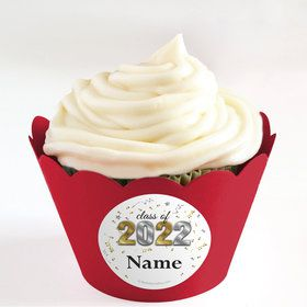 Graduation Year Personalized Cupcake Wrappers (Set of 24)