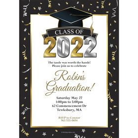 Graduation Year Personalized Invitation (Each)