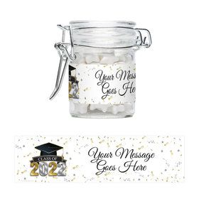 Graduation Year Personalized Swing Top Apothecary Jars (12 ct)