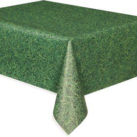 Grass Print Plastic Table Cover (Each)