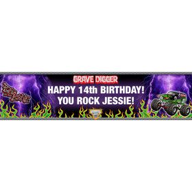 Grave Digger Personalized Banner (each)