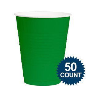 Green 12Oz. Plastic Cup (50 Pack)