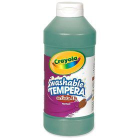 Green 16 oz washable tempera paint plastic squeeze bottle